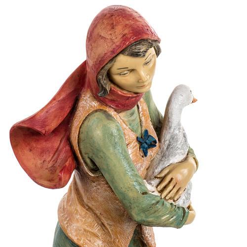 Kobieta z psem 52 cm szopka Fontanini 6