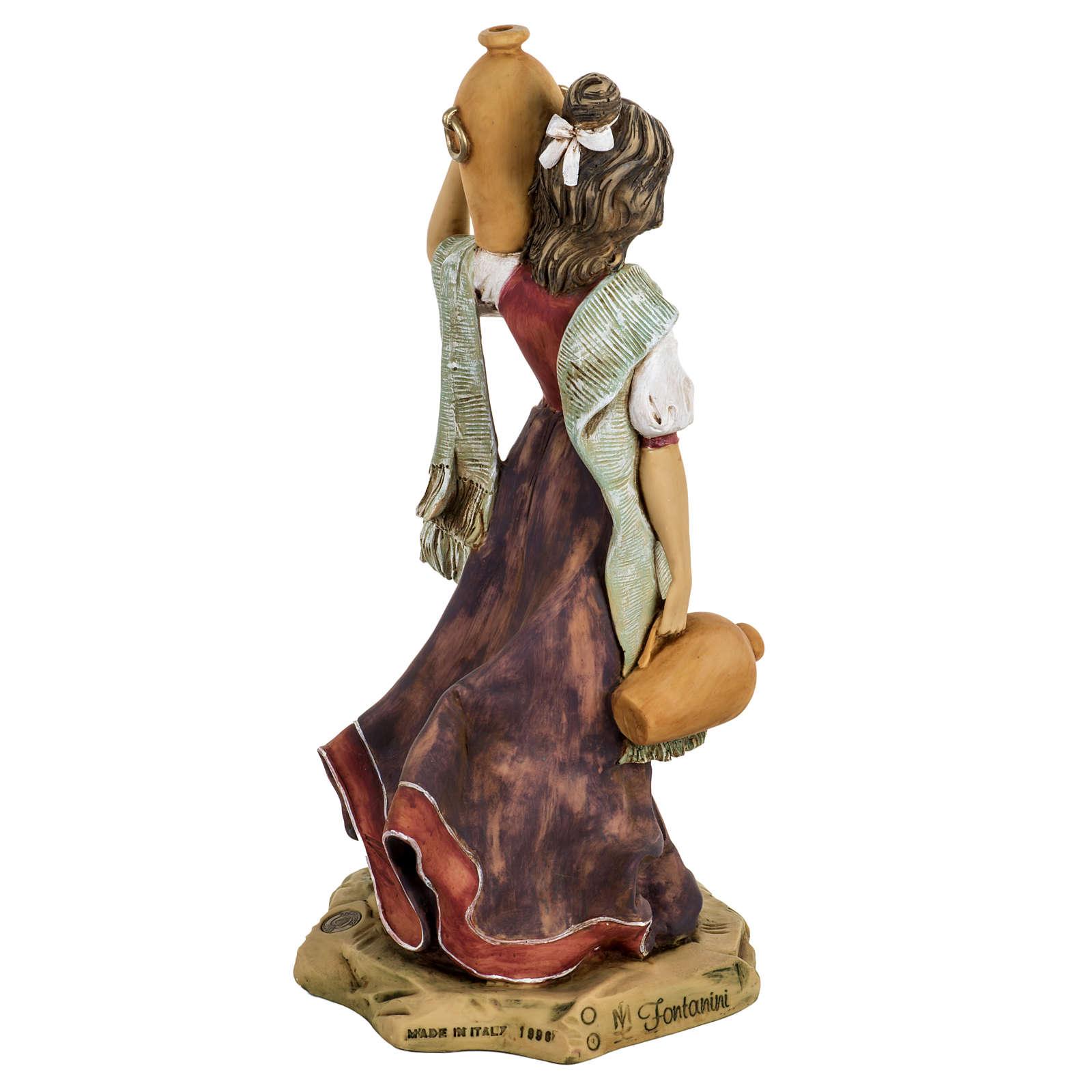 Mulher com ânforas presépio 52 cm Fontanini 3