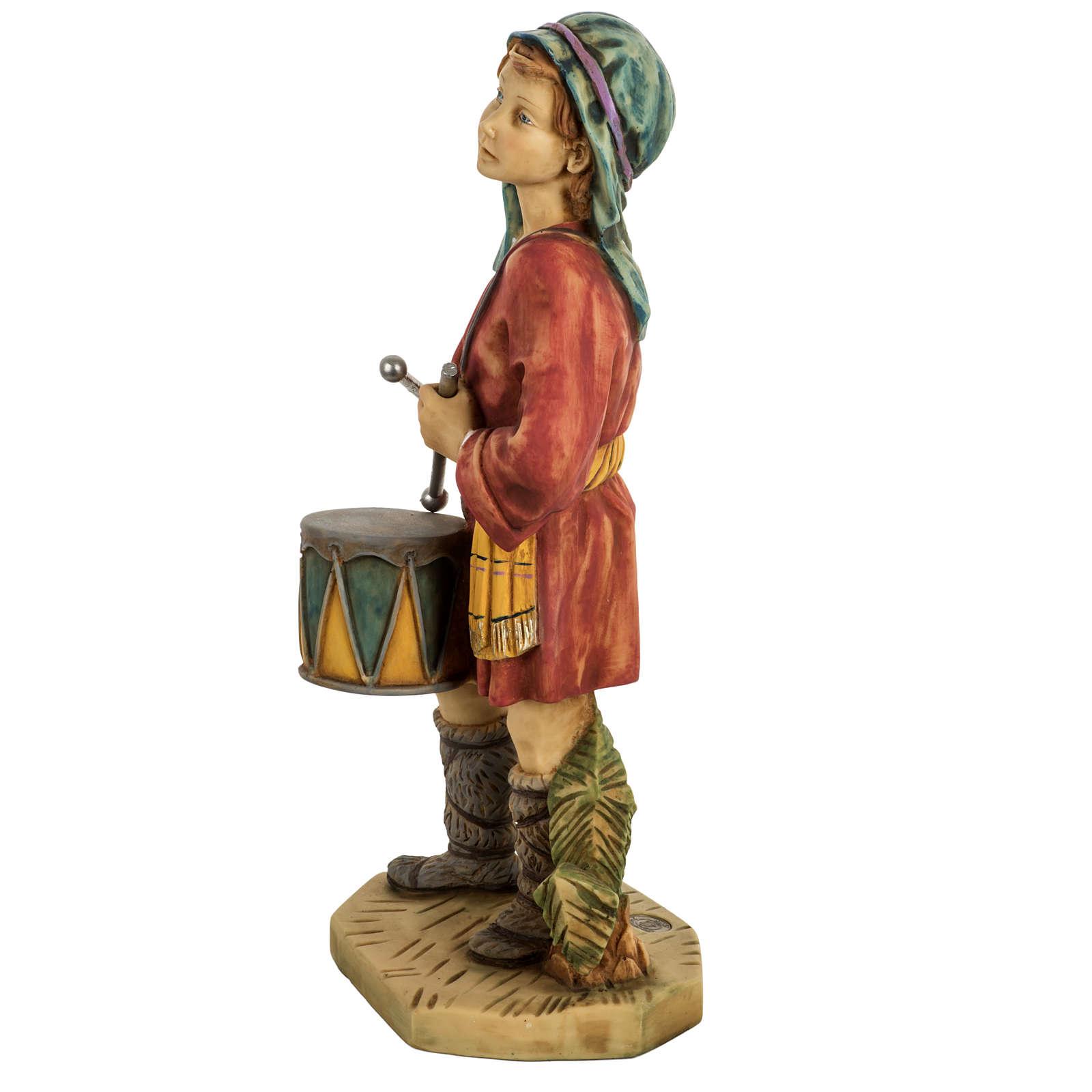 Pastor con tambor pesebre 52cm Fontanini 3