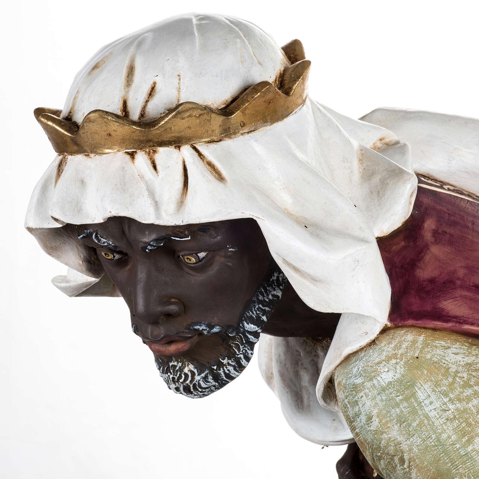 Roi Mage noir crèche Fontanini 125 cm résine 3