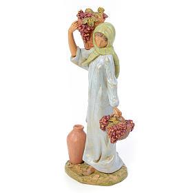 30 cm Hirtenmädchen, mit Traubenkorb, Fontanini s2