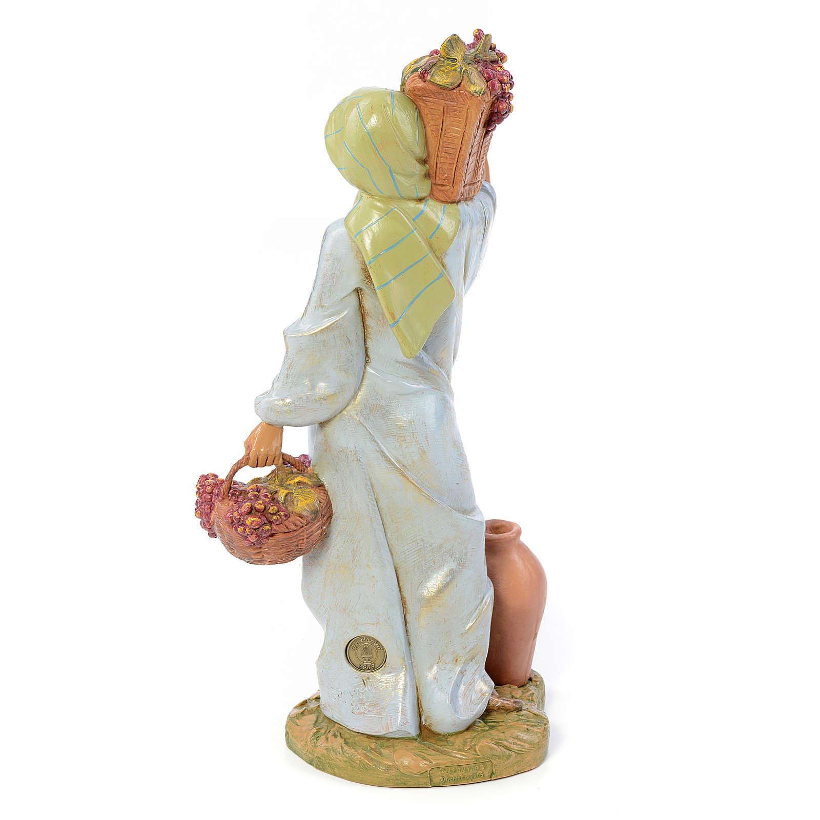 Pastorella con cesto d'uva 30 cm Fontanini 3