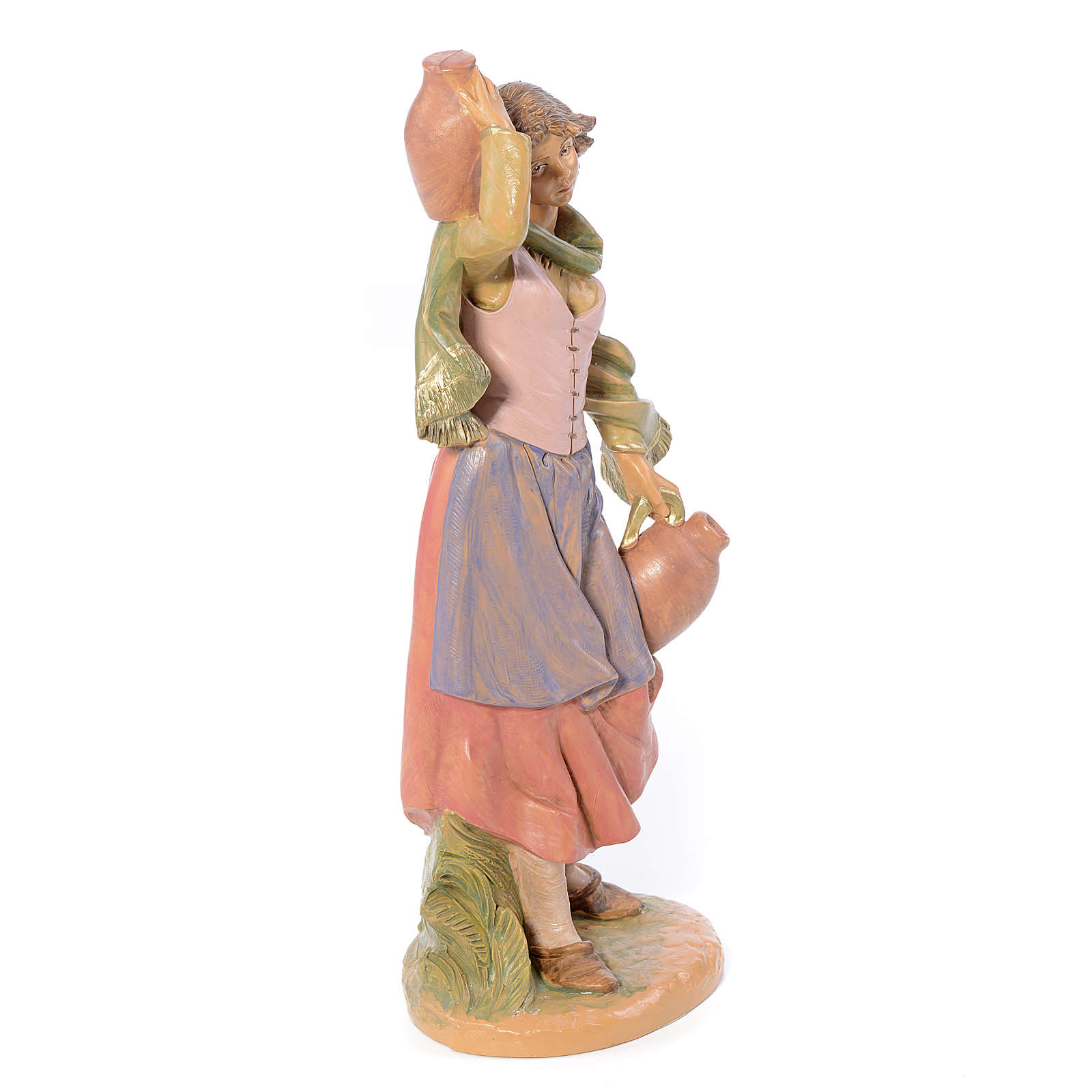 Bergère avec broc crèche Fontanini 30 cm 3