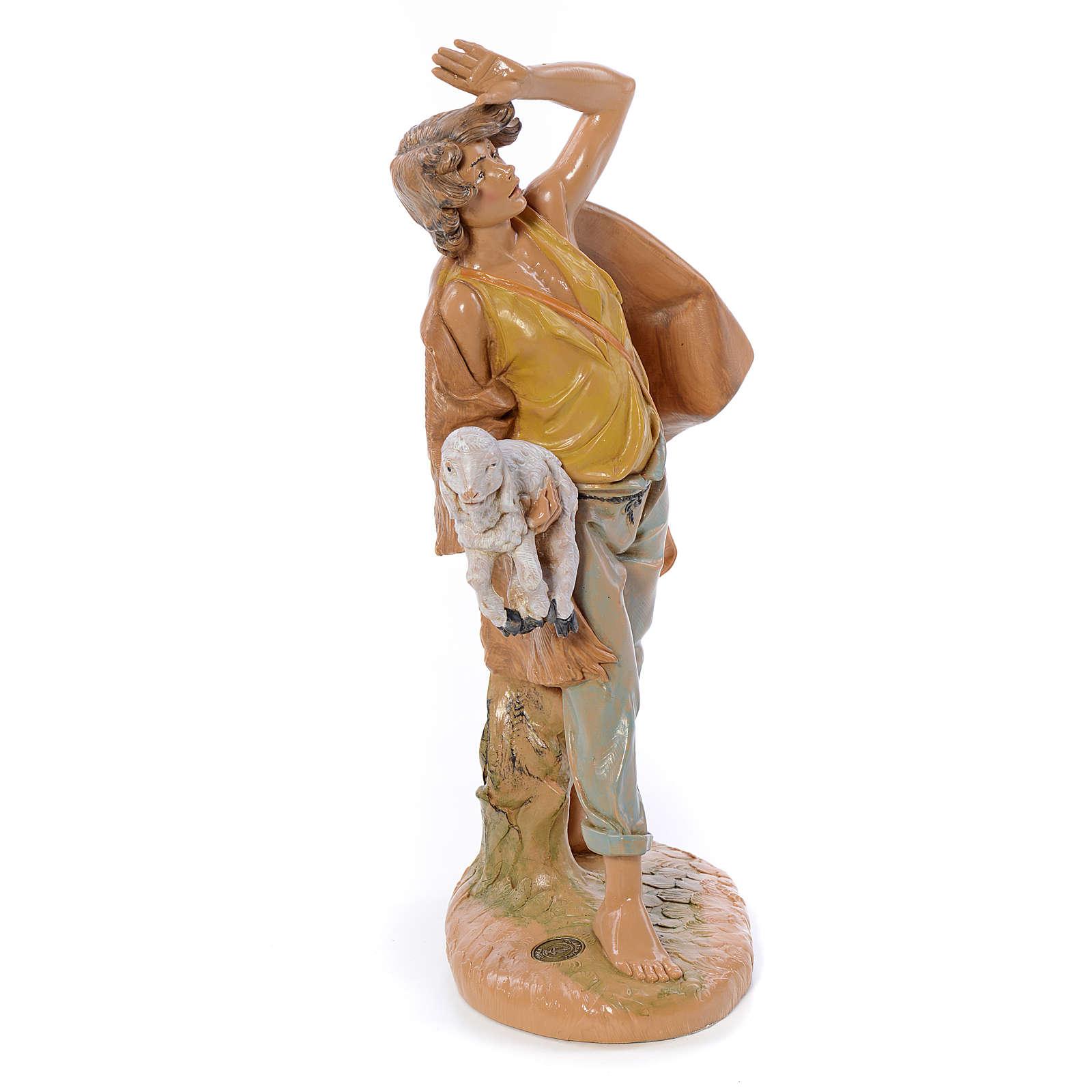 Berger avec brebis dans les bras crèche Fontanini 30 cm 3