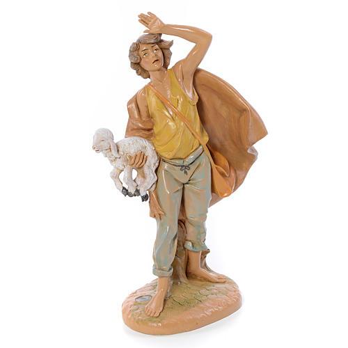 Pastore con pecora in mano 30 cm Fontanini 1
