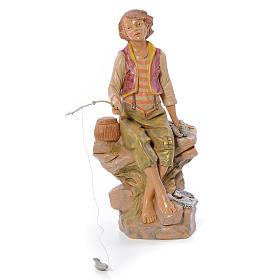 Pescatore seduto 30 cm Fontanini s1