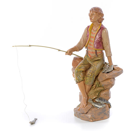 Pescatore seduto 30 cm Fontanini 2