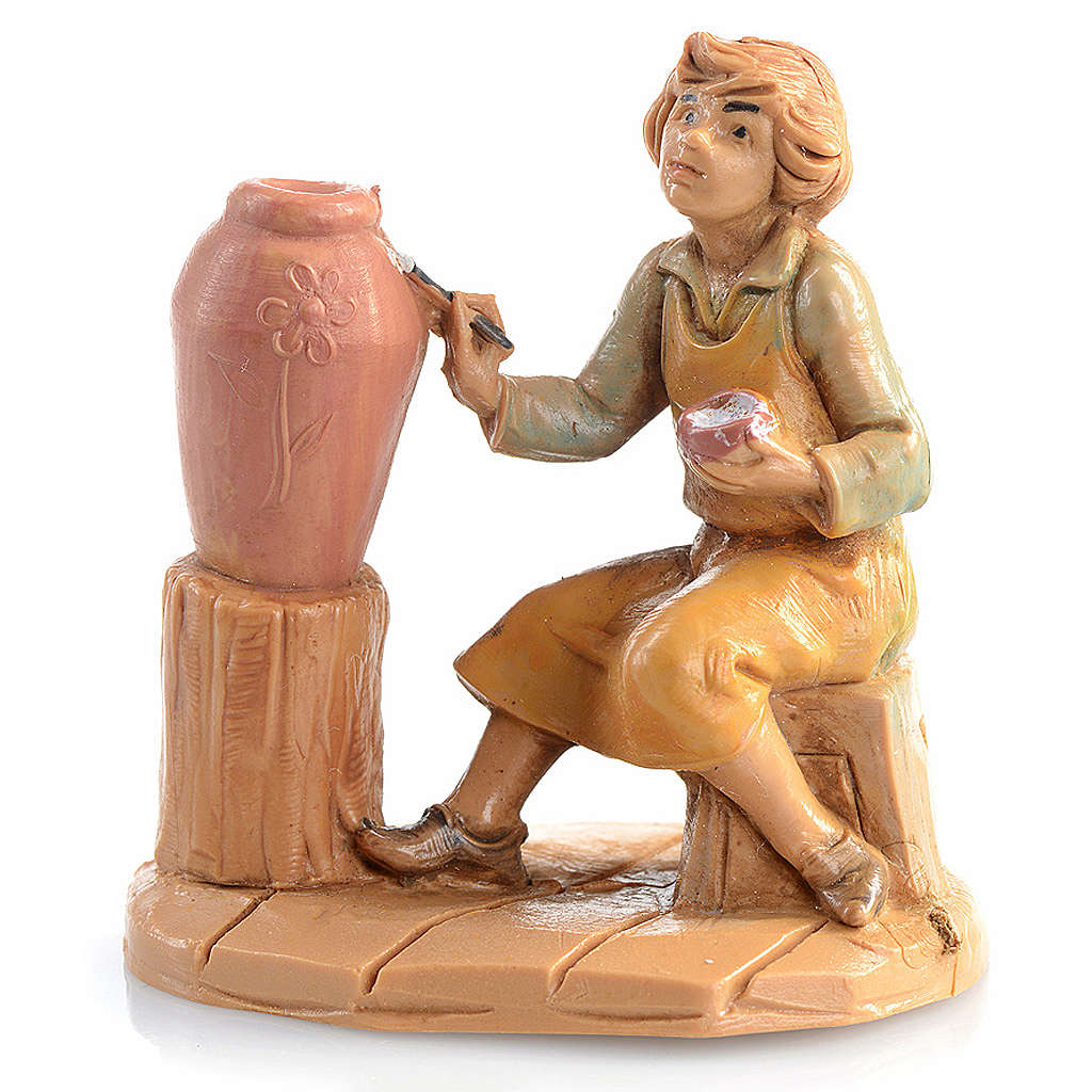 Pastor con jarrón de 6,5cm Fontanini 3