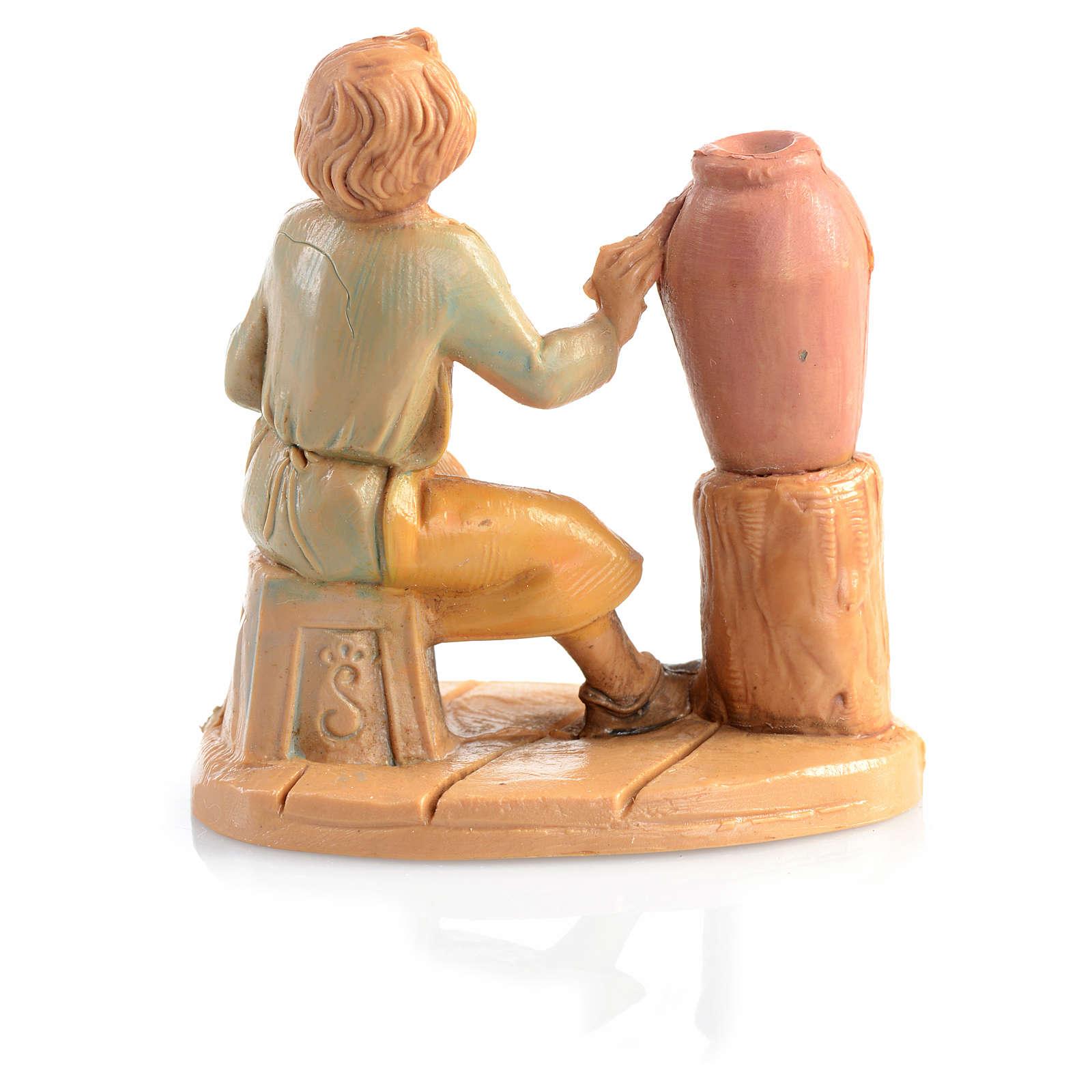 Bergère avec vase crèche 6,5 cm Fontanini 4