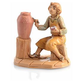 Bergère avec vase crèche 6,5 cm Fontanini s3