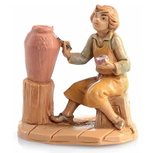 Bergère avec vase crèche 6,5 cm Fontanini 1