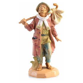 Voyageur avec fagot crèche 6,5 cm Fontanini s1