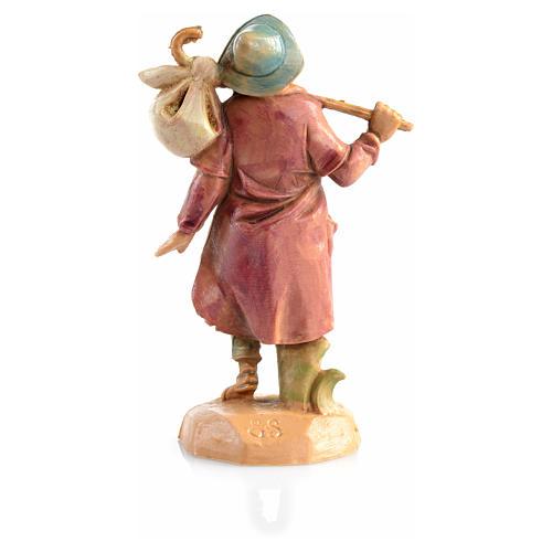 Voyageur avec fagot crèche 6,5 cm Fontanini 2