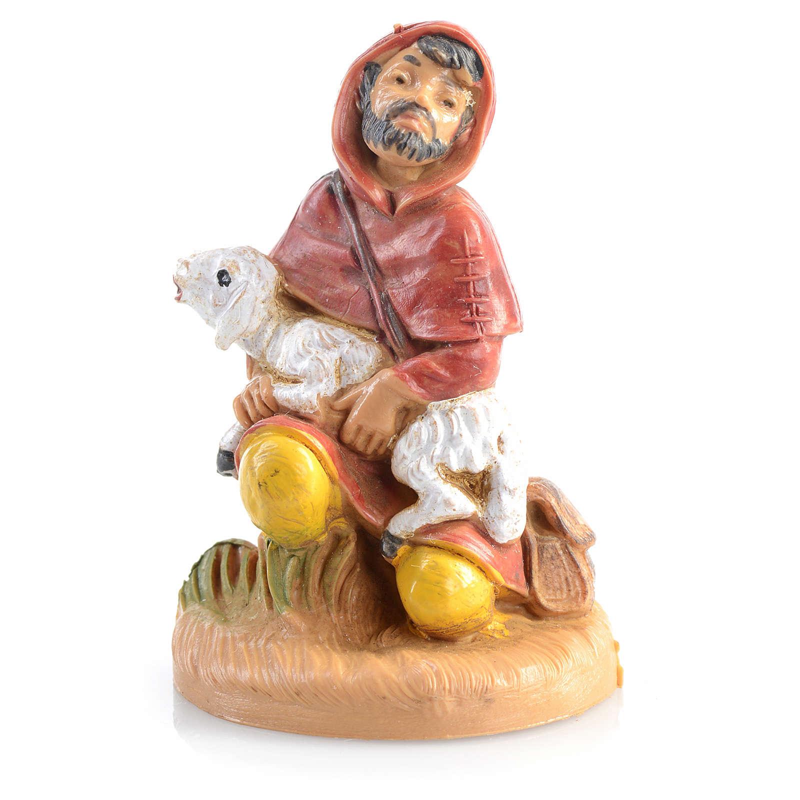 Pastor ajoelhado com ovelha 6,5 cm Fontanini 4