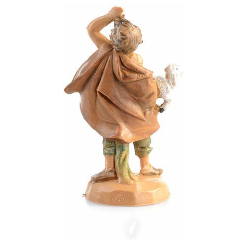 Pastore con pecora in mano 6,5cm Fontanini 4
