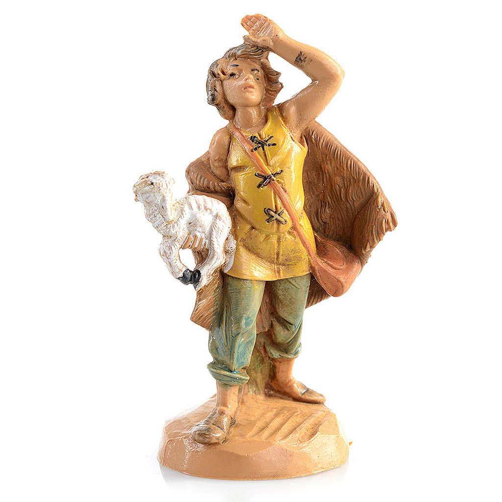 Pastor com ovelha na mão 6,5 cm Fontanini 4