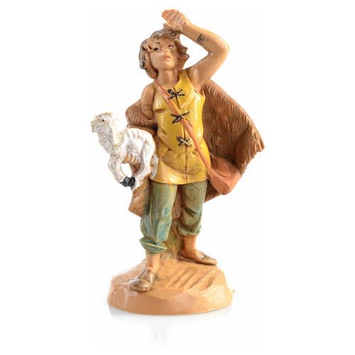 Pastor com ovelha na mão 6,5 cm Fontanini 3