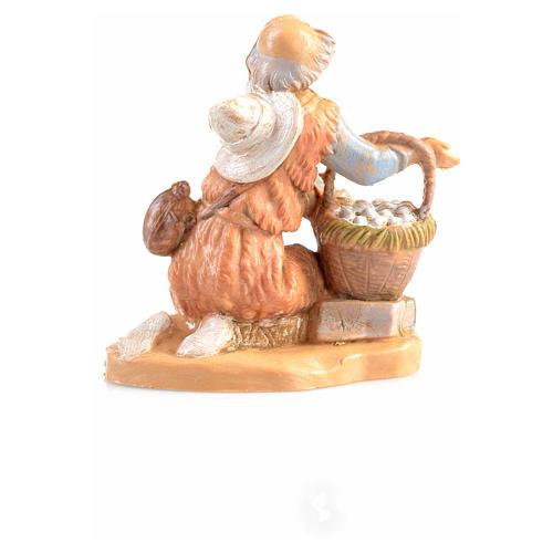 Pastor en rodillas con cesta Fontanini 6,5cm 2