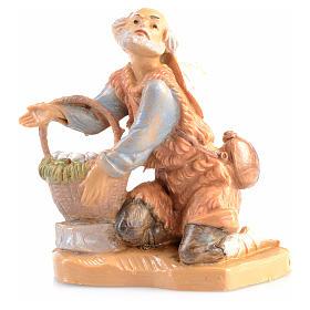 Figuras de Presépio: Camponês ajoelhado com ovos 6,5 cm Fontanini