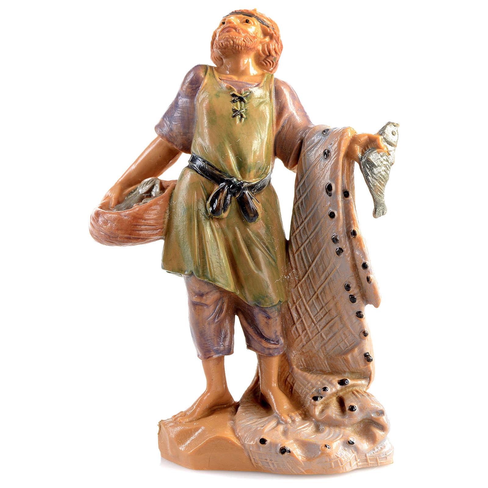 Pescatore con rete Fontanini 6.5 cm 3