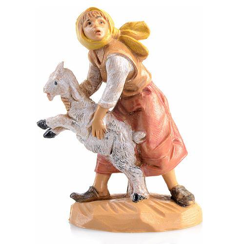 Schäferin mit Schaf, Fontanini, 6.5 cm 1