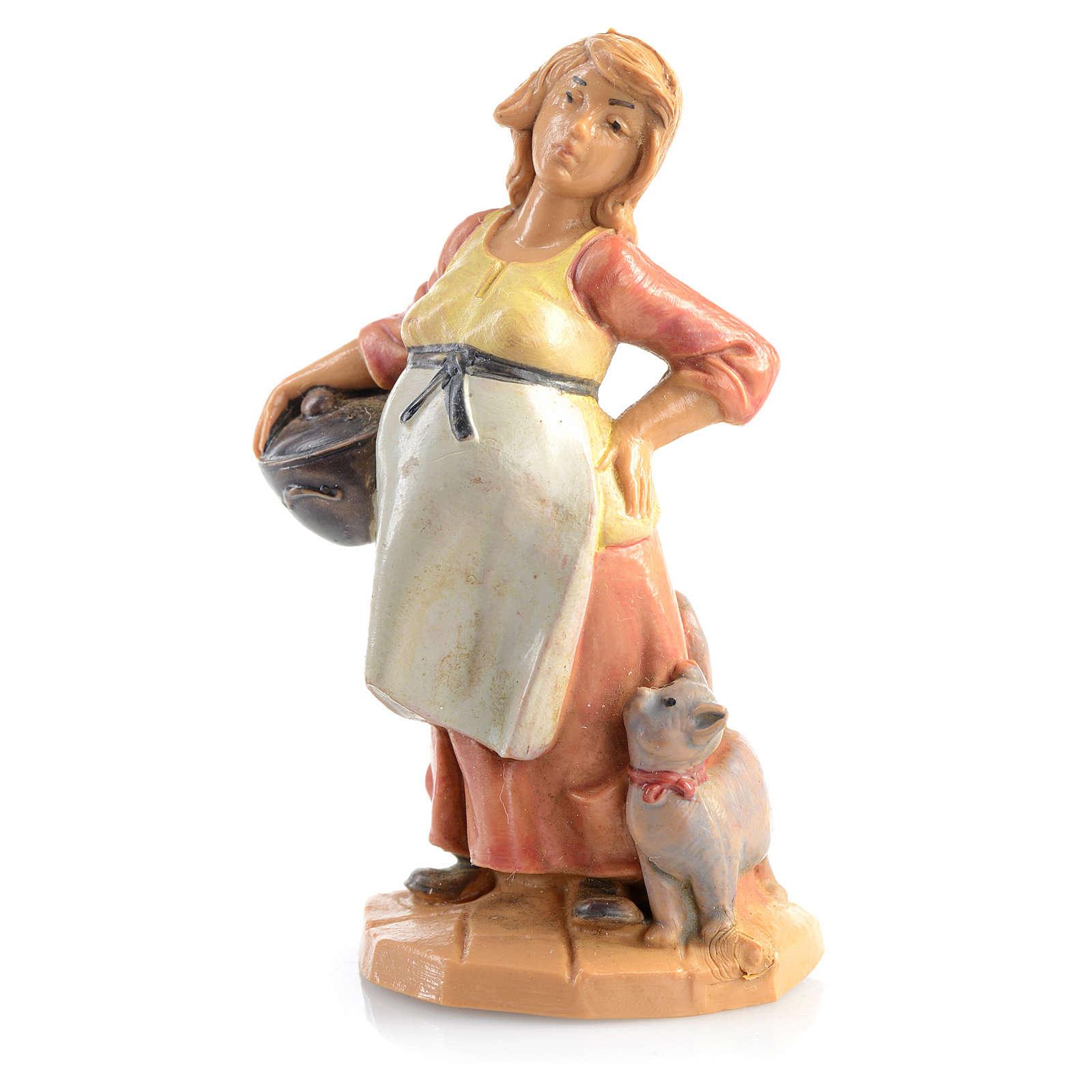 Mulher grávida presépio Fontanini 6,5 cm 3