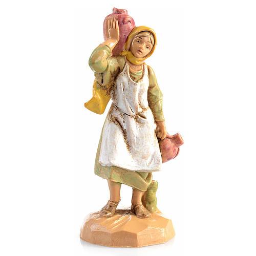 Pastora con jarras para pesebre Fontanini 6,5cm 1