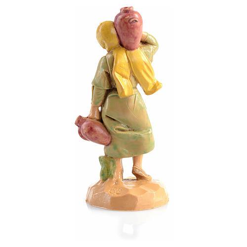 Pastora con jarras para pesebre Fontanini 6,5cm 2