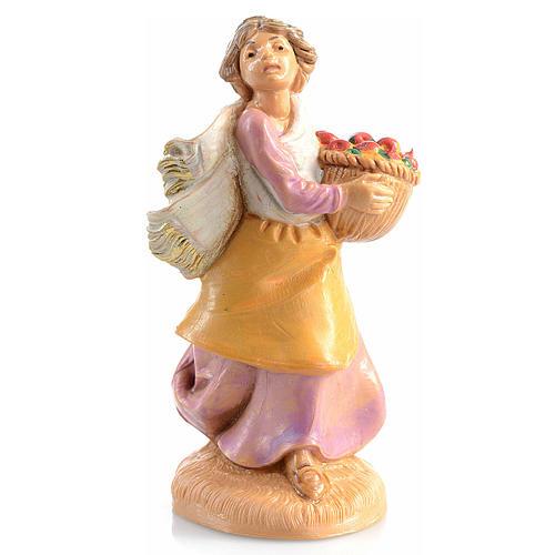 Pastora con cesta de frutas Fontanini 6,5 cm 1