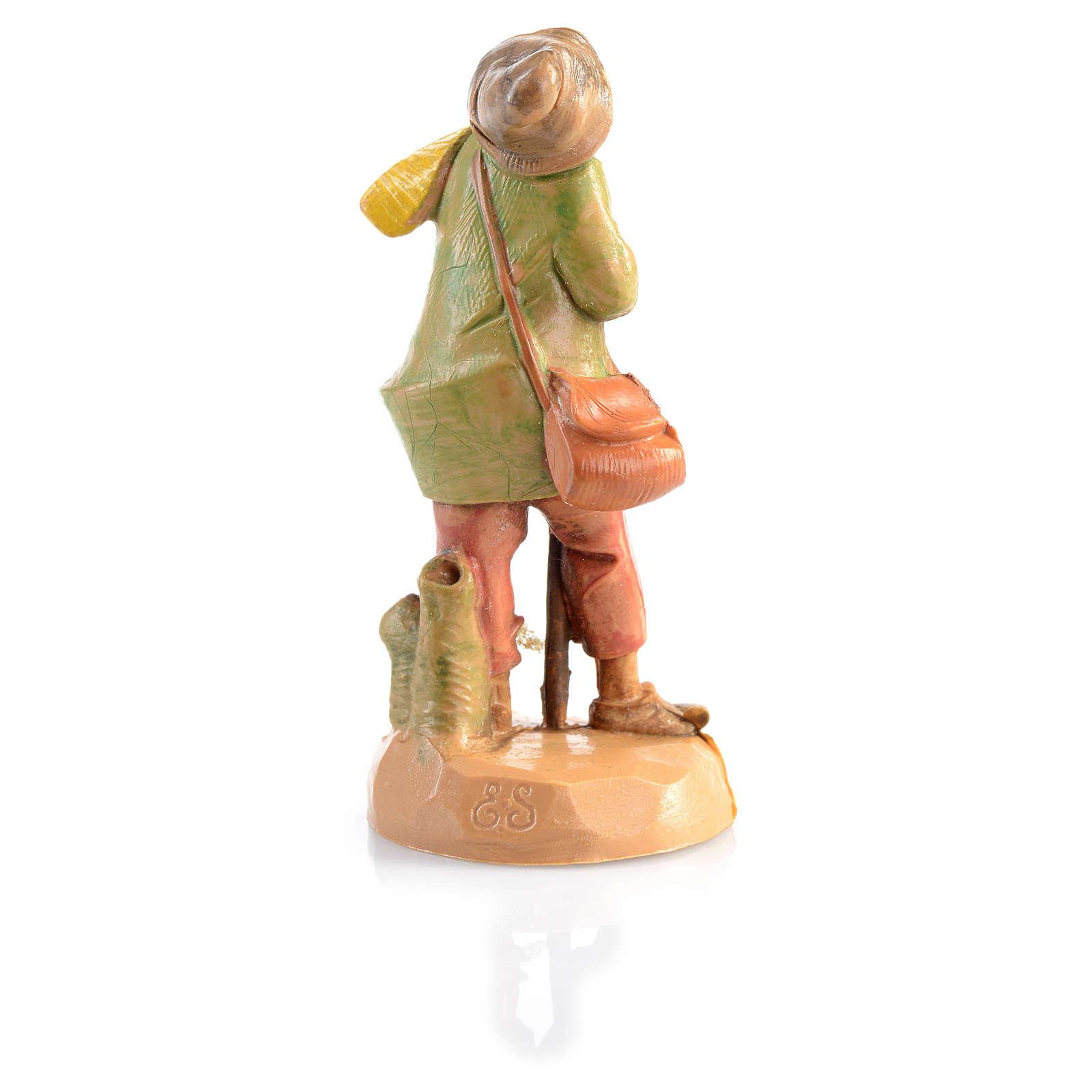 Pastor idoso com cachecol Fontanini 6,5 cm 4