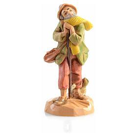 Pastor idoso com cachecol Fontanini 6,5 cm s1
