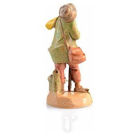 Pastor idoso com cachecol Fontanini 6,5 cm s2