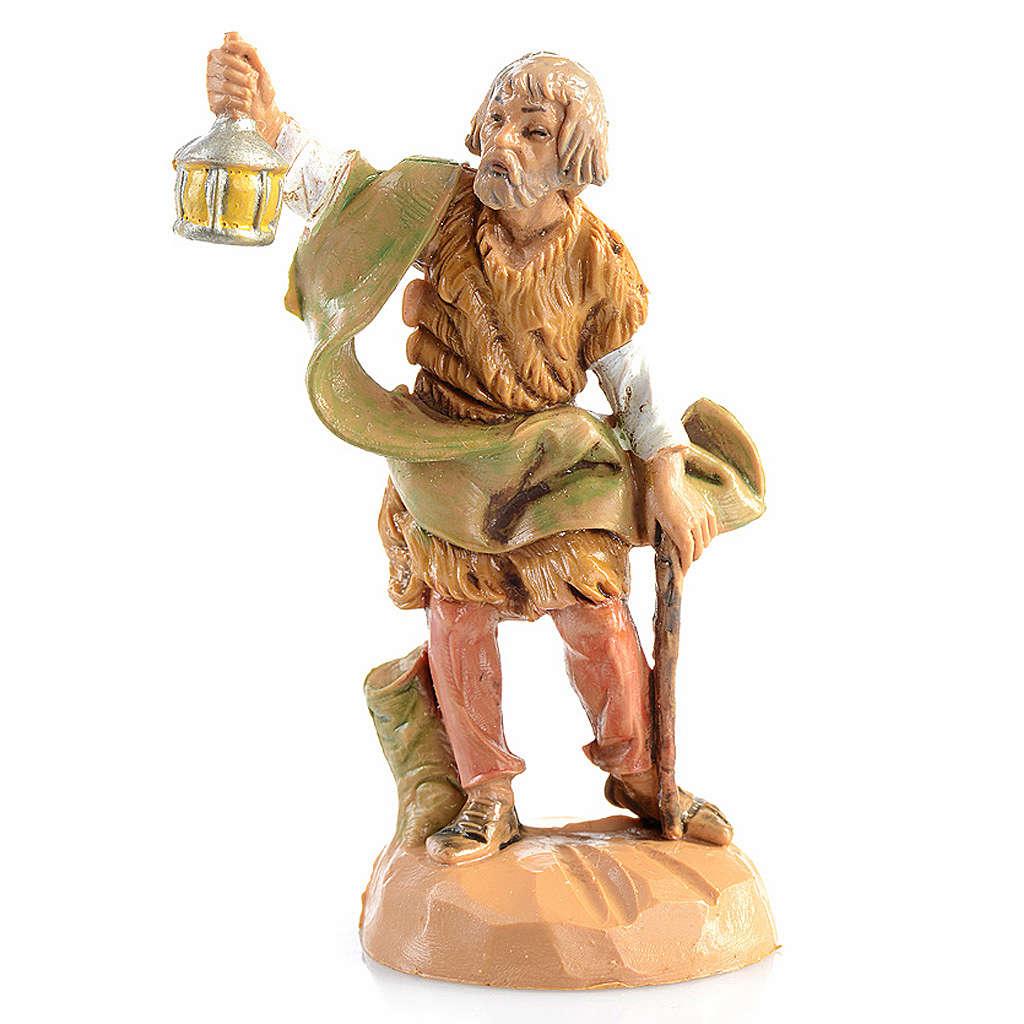 Pastor con lámpara Fontanini de 6,5cm 3
