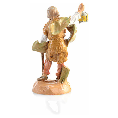 Pastor con lámpara Fontanini de 6,5cm 2