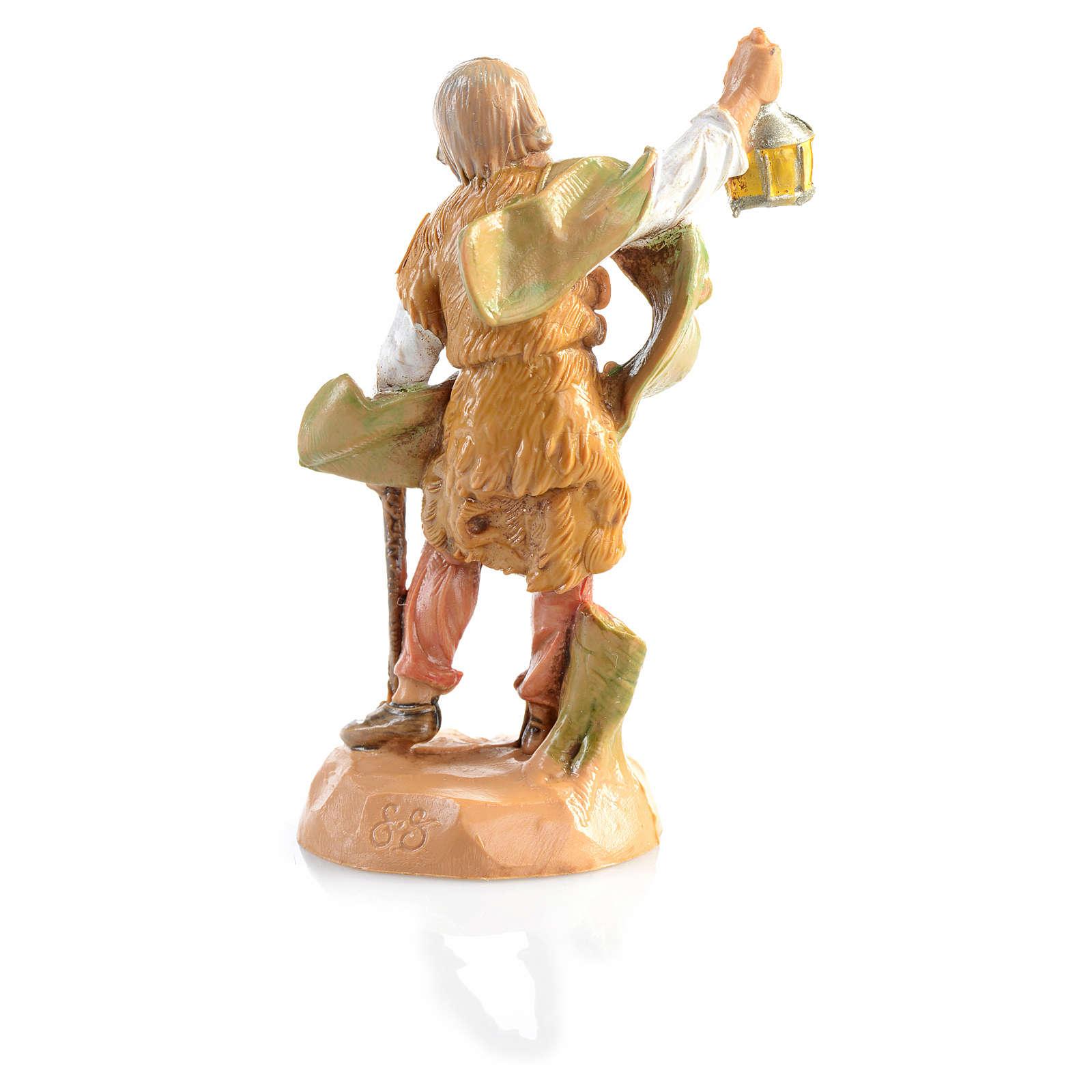 Pastore con lanterna Fontanini 6.5 cm 4