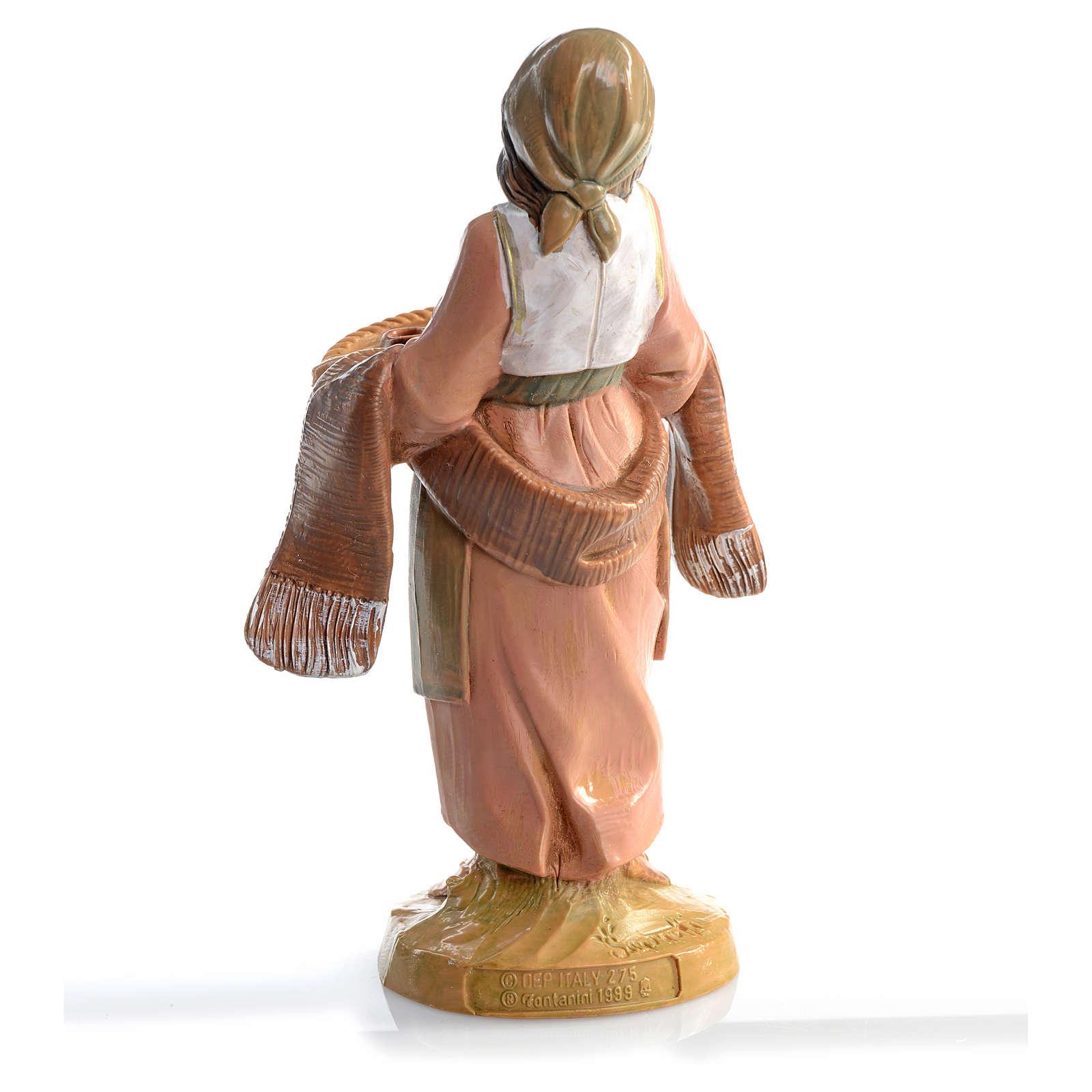 Femme avec tasses crèche 12 cm Fontanini 3