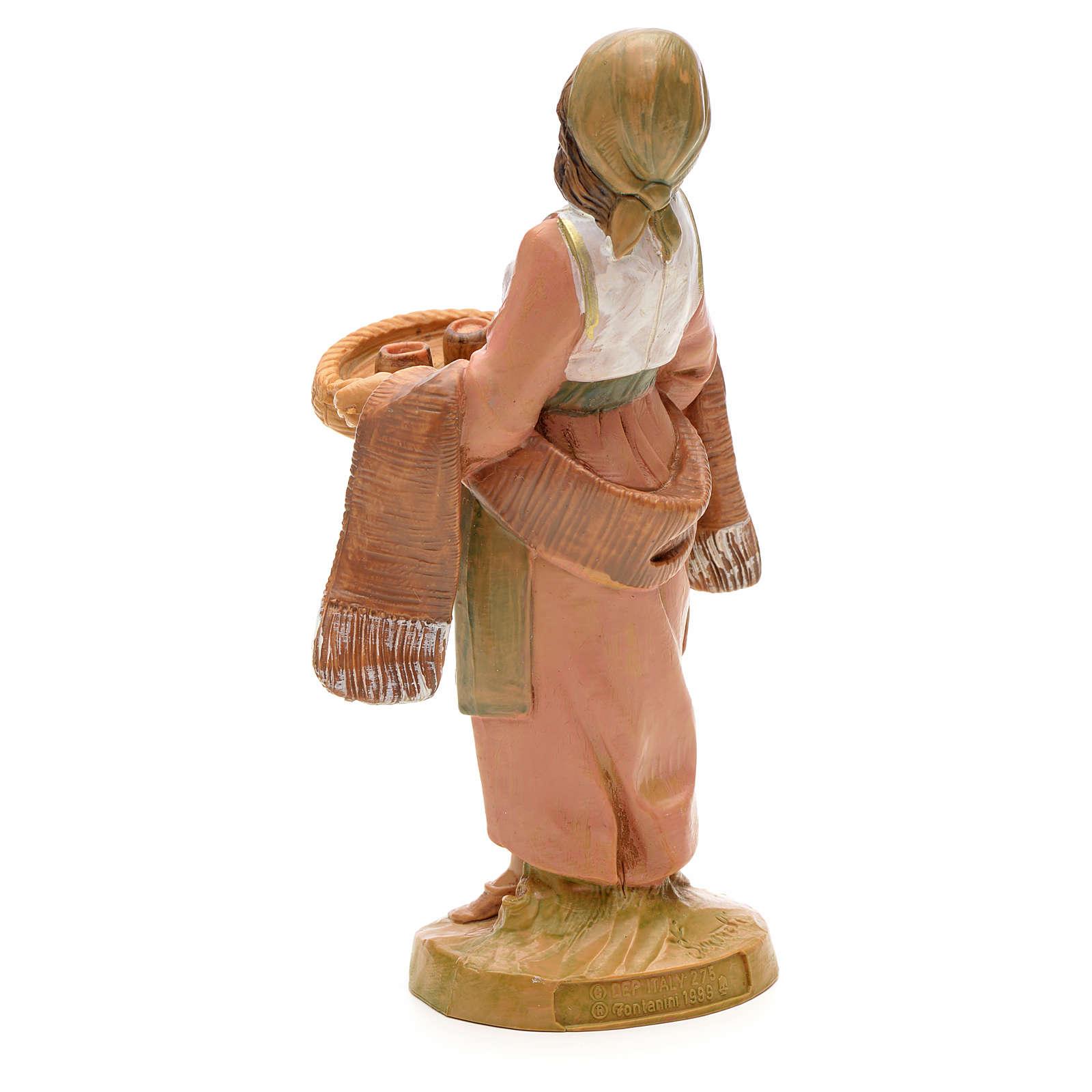 Mulher com bandeja e chávenas 12 cm Fontanini 3