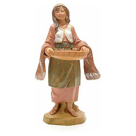 Mulher com bandeja e chávenas 12 cm Fontanini s3