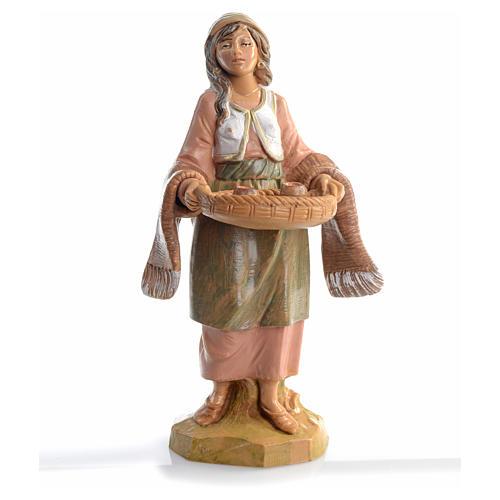 Mulher com bandeja e chávenas 12 cm Fontanini 1