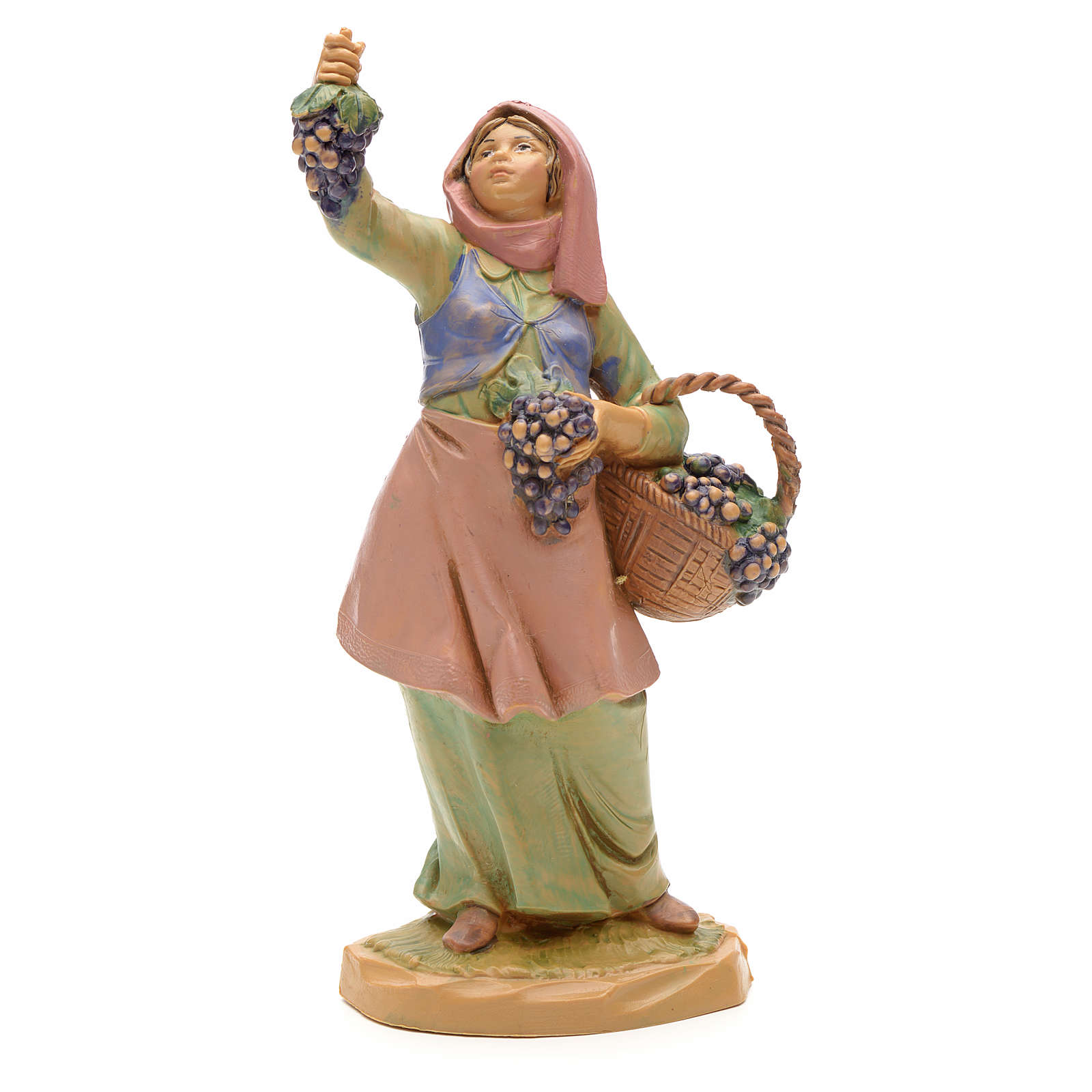 Pastora con uvas 12 cm Fontanini 4