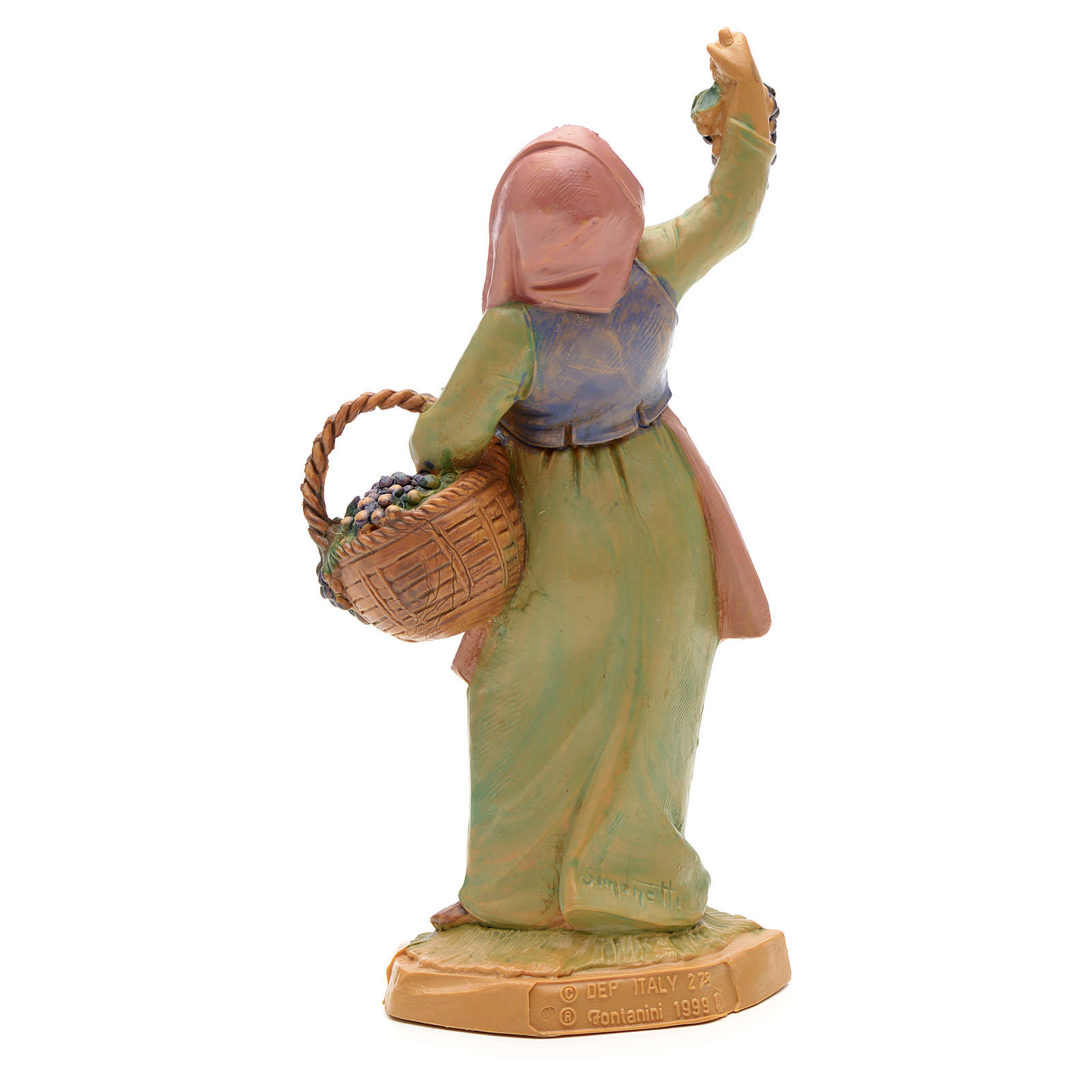 Pastora con uvas 12 cm Fontanini 3