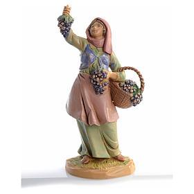 Pastora con uvas 12 cm Fontanini s5