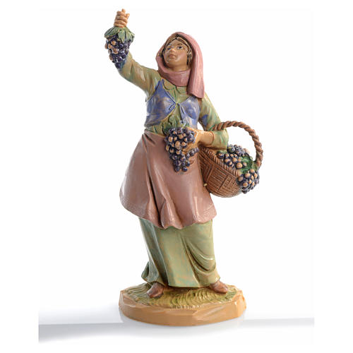 Pastora con uvas 12 cm Fontanini 5