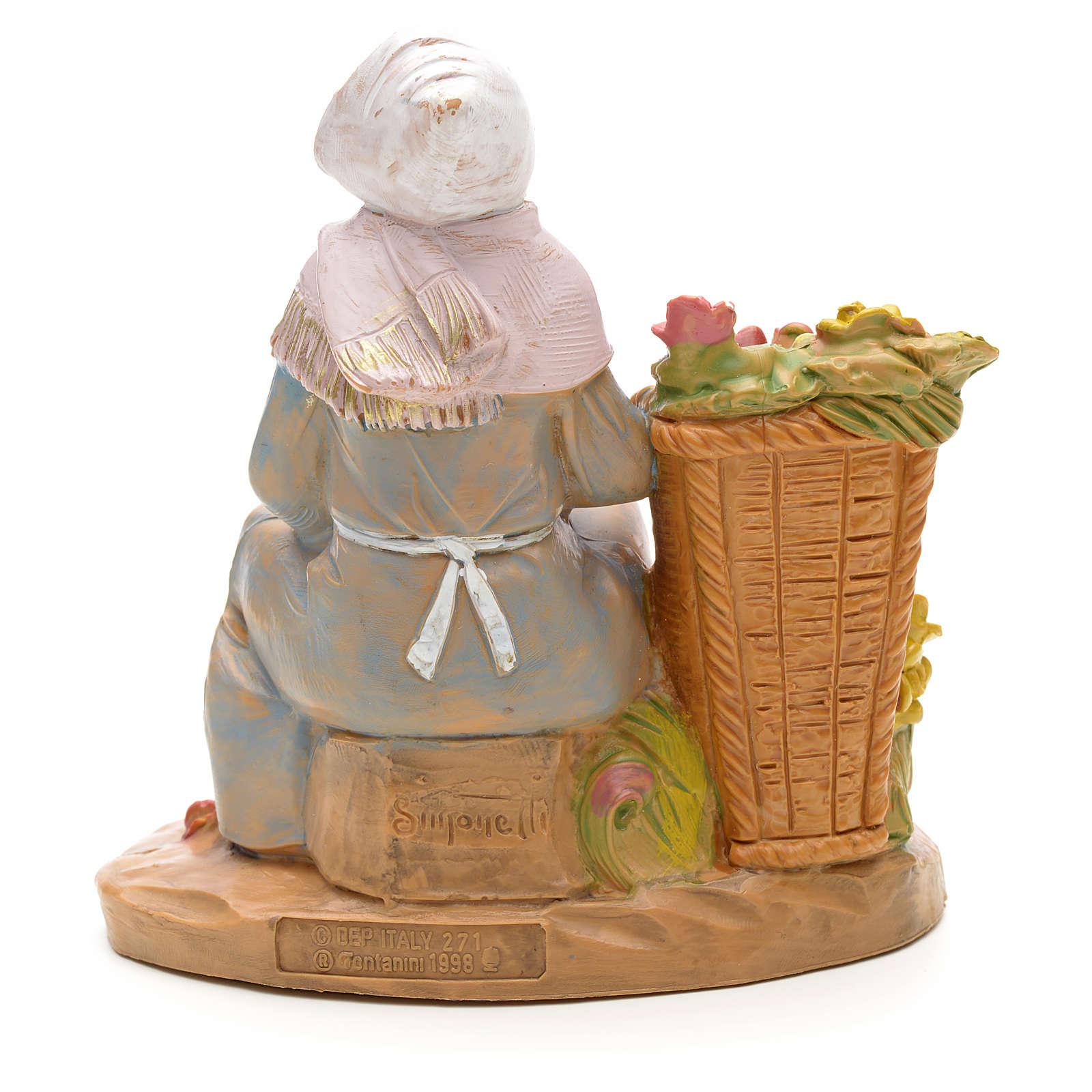 Donna con vaso di profumo 12 cm Fontanini 4