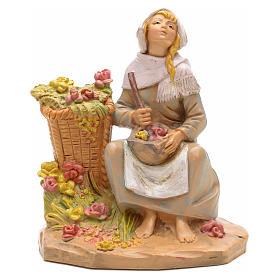 Mulher com vaso de perfume para Presépio Fontanini com figuras de altura média 12 cm s1