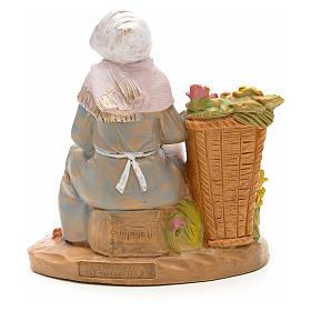 Mulher com vaso de perfume para Presépio Fontanini com figuras de altura média 12 cm s2