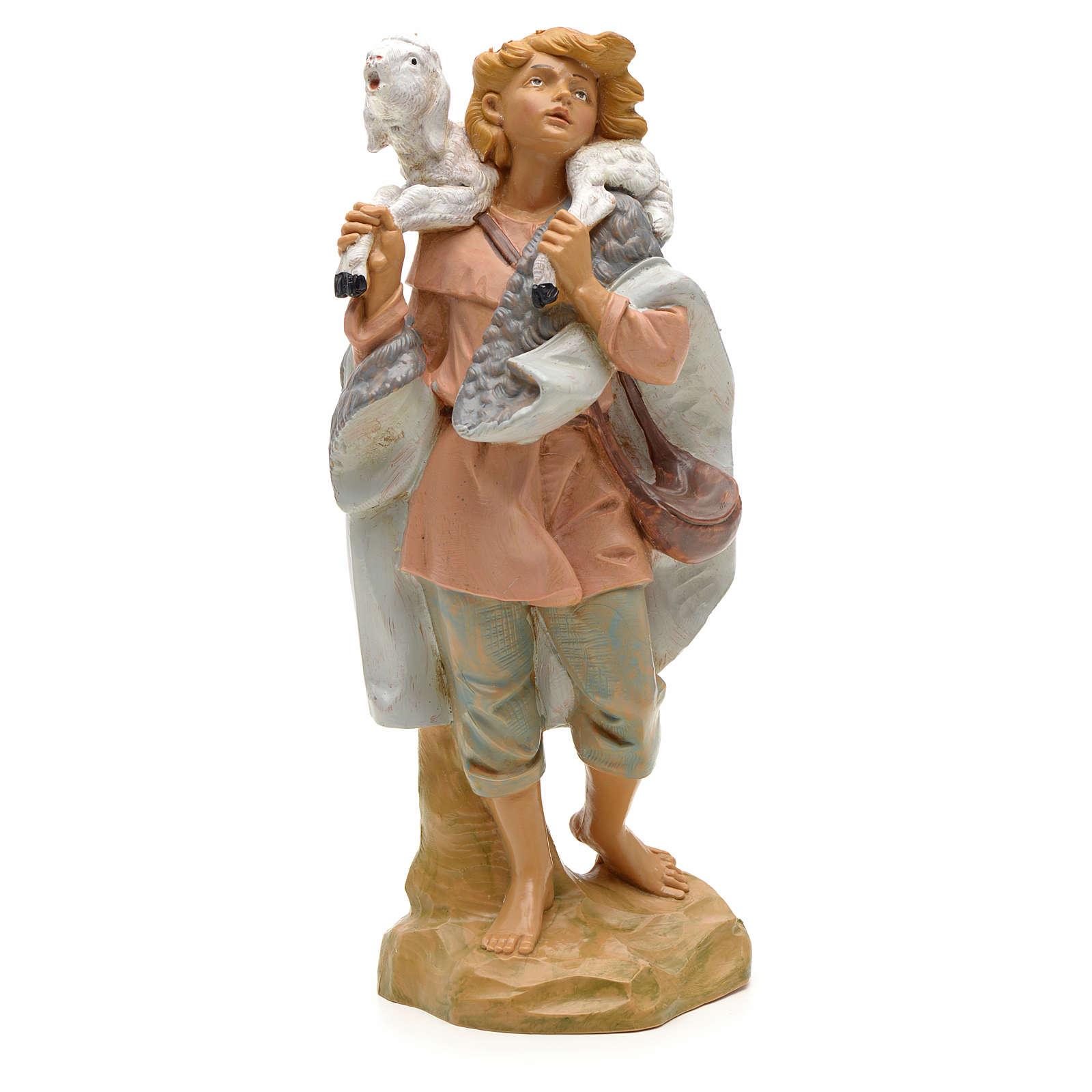 Pastore pecora in spalla 19 cm Fontanini 3