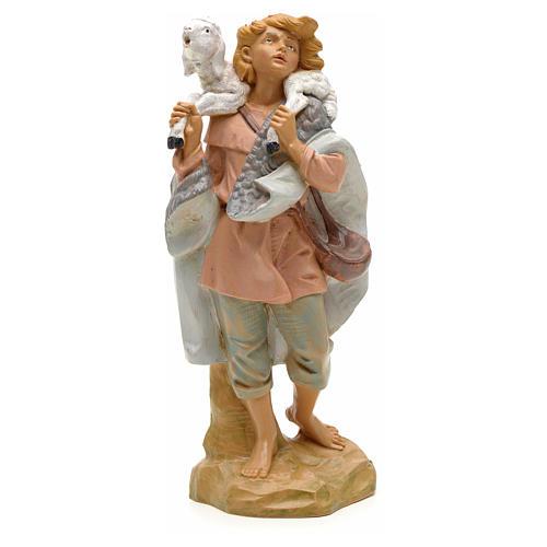 Pastore pecora in spalla 19 cm Fontanini 1