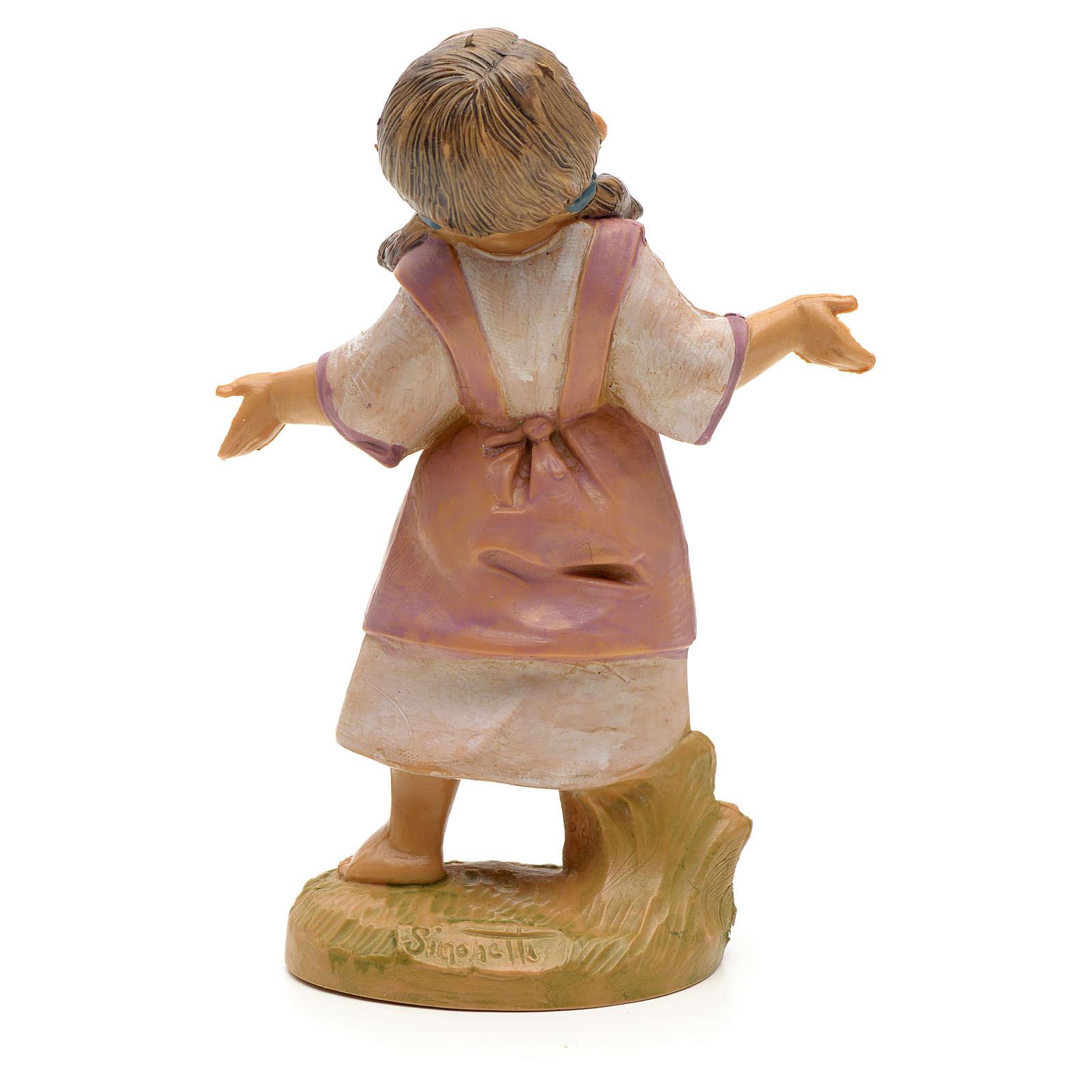 Petite fille crèche Fontanini 19 cm 4