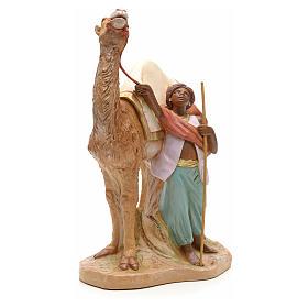 Camellero con camello para belén Fontanini con figuras de altura media 19 cm s4